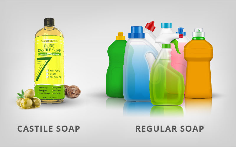 Castile Soap vs Regular Soap: What's the difference?
