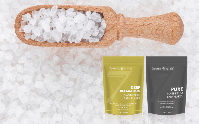 relax destress with magnesium flakes