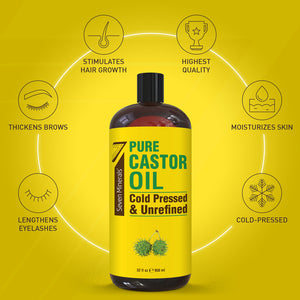 Cold Pressed Castor Oil (Shipping Within USA only)