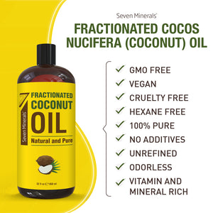 Pure Fractionated Coconut Oil (Shipping Within USA only)