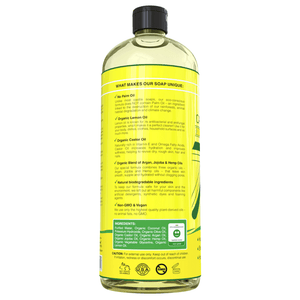 pure castile soap lemon back