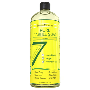 pure castile soap lemon front