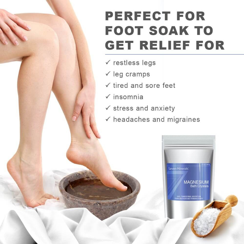 Magnesium Chloride Bath Crystals foot soak