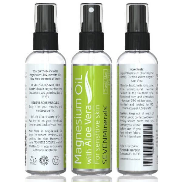 Magnesium Oil with Aloe Vera Travel trio