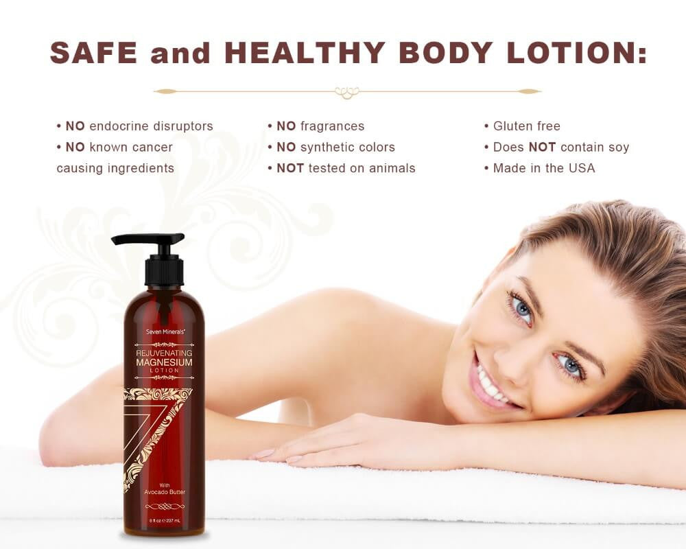 Rejuvenating Magnesium Lotion Avocado safe ingredients