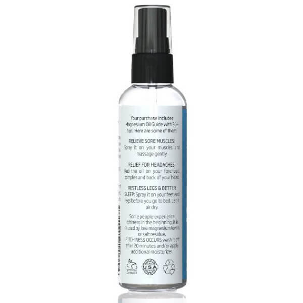 USP Grade Magnesium Oil Travel Size back