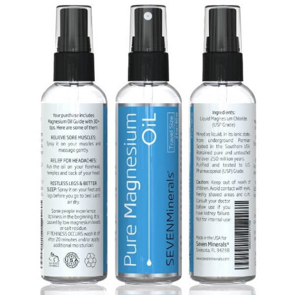 USP Grade Magnesium Oil Travel Size trio