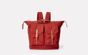 Frank Large Waxed Cotton Rucksack Brick