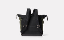 Frank Large Waxed Cotton Rucksack Black & Olive