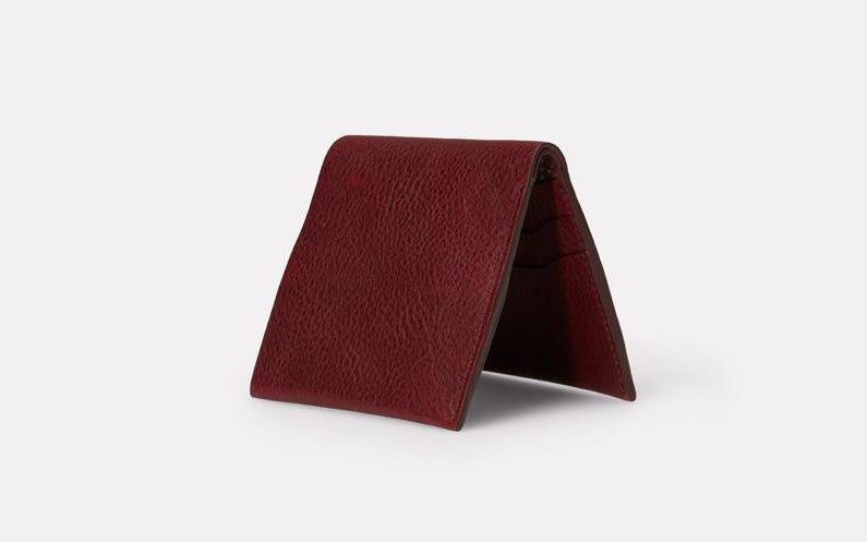 Oliver Leather Wallet Plum