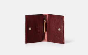 Riley Leather Coin Card Purse Plum