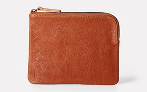 Jan Calvert Leather Purse Tan
