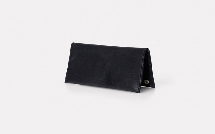Evie Long Leather Wallet Black