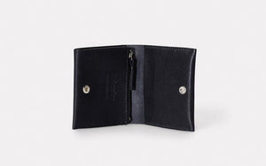Riley Leather Coin Card Purse Black
