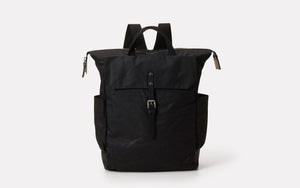 Fin Waxed Cotton Rucksack Black