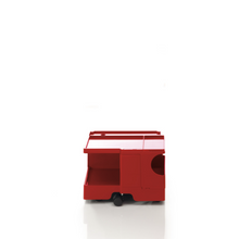The Boby Trolley Small no drawers, seen here In the colour red. Available exclusively at Bob and Friends.