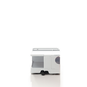 The Boby Trolley Small no drawers, seen here In the colour white. Available exclusively at Bob and Friends.