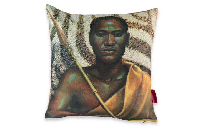 Tretchikoff's Xhosa Warrior Cushion