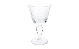 Wine glass set clear