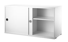String Shelving System- Cabinet with sliding doors