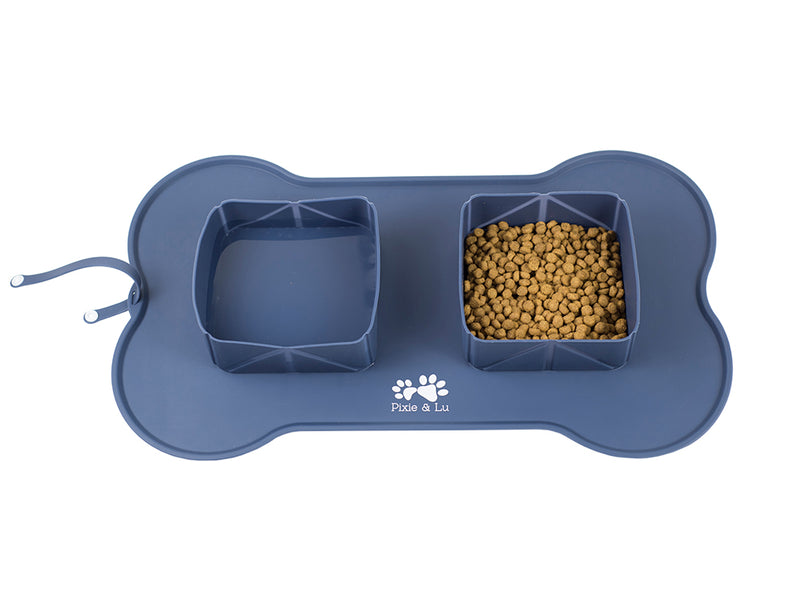 Portable pet feeding bowl For cats and dogs, for home and away