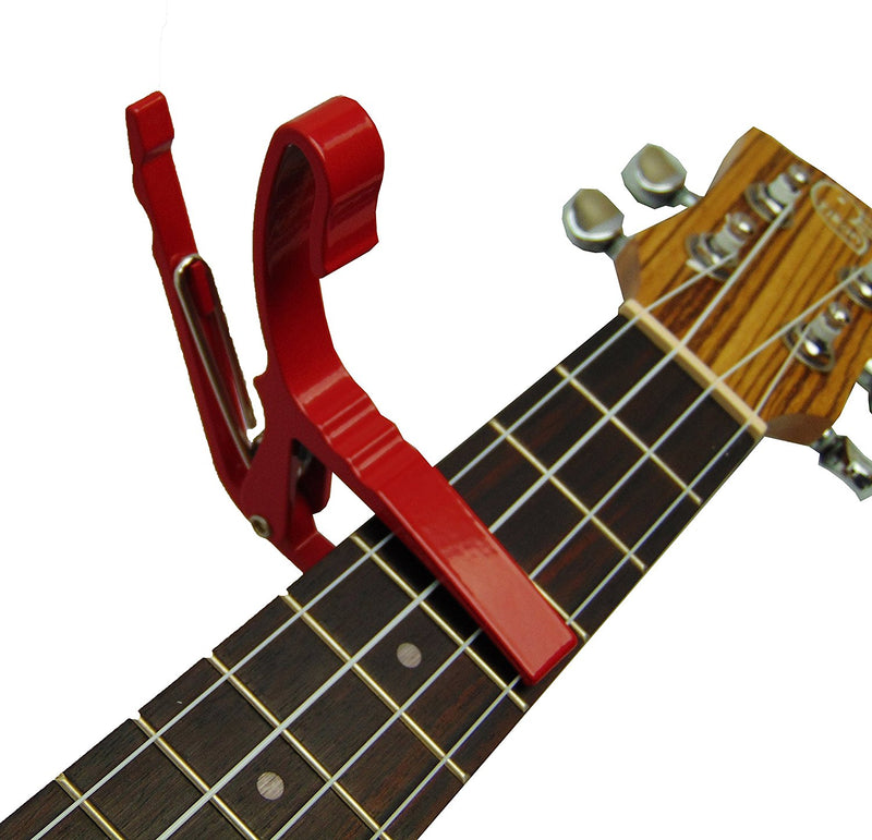 Professional Series Ukulele Capo, will fit on Soprano, Tenor and Concert RED