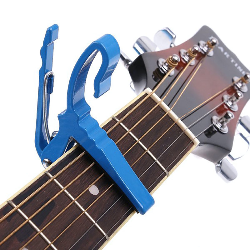 Professional Series Ukulele Capo, will fit on Soprano, Tenor and Concert BLUE