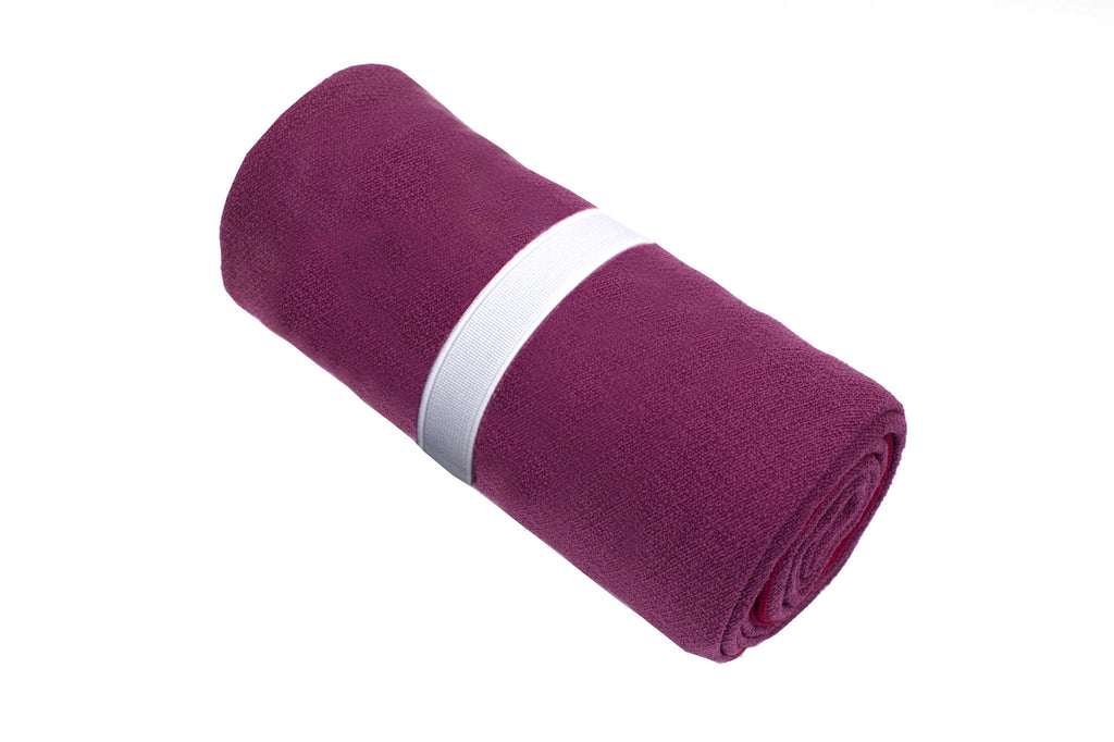 Limber Stretch Premium  Hot Yoga Mat Towel Cerise Pink