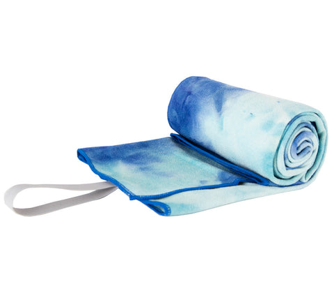 """Blue Raspberry"" Tie Dye Yoga Towel"