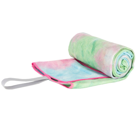 """Water Colour"" Tie Dye Yoga Towel"