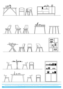 FIA CAD Blocks Dining Room Furniture [CP04]