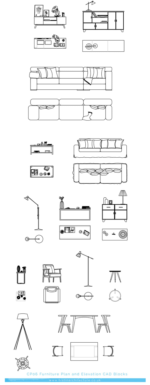 FIA CAD Blocks Furniture Plans and Elevation [CP06]