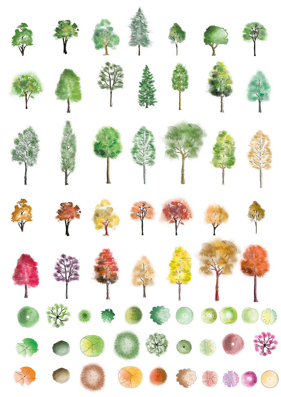 Colour photoshop trees