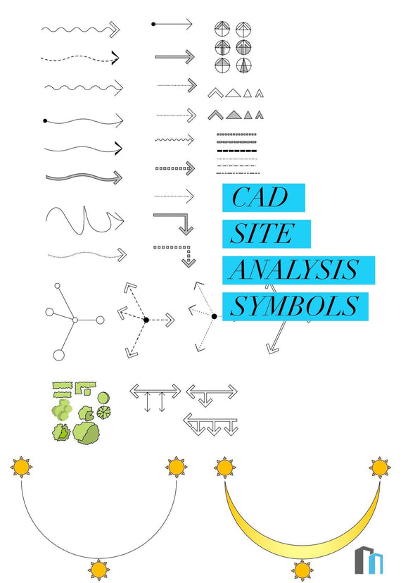 CAD Site Analysis Symbols