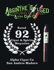 Cigar and Spirits Magazine Alpha Cigar Absinthe Infused Review