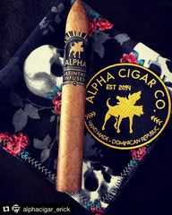 Alpha Cigar Co. Patch and Connecticut Box Press