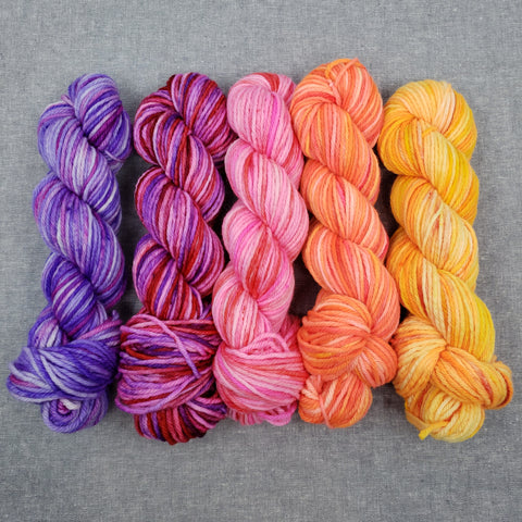 The Rainbow Collection - Warm - Full Skeins