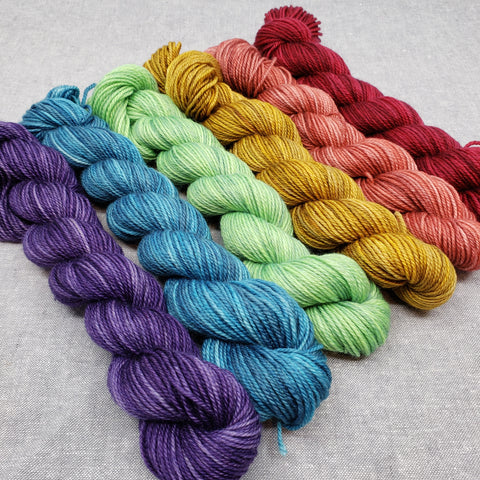 Deep Rainbow Mini Skein Set