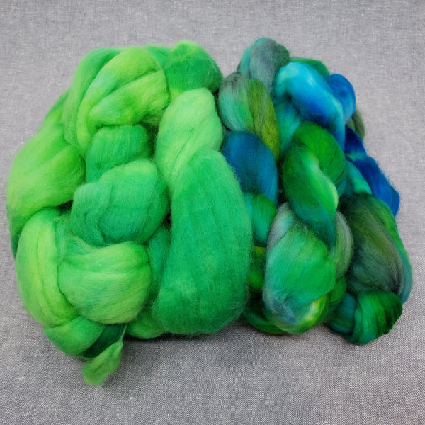 Ply Pack Spinning Fiber - Lime and Tropics