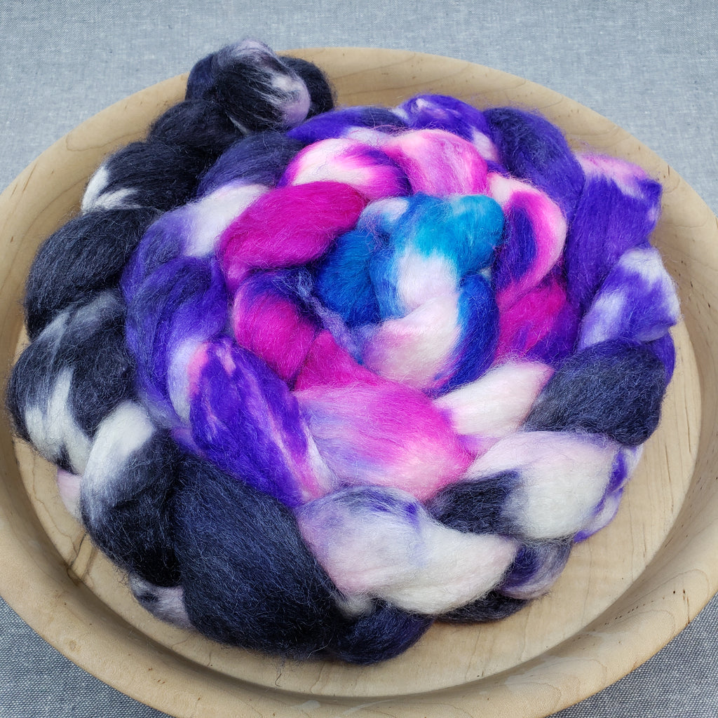 Spinning Fiber - Dark Glam Gradient Merino/Silk