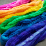 Rainbow Pack Superwash Merino/Nylon Spinning Fiber