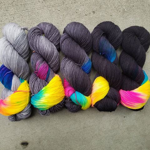 Rainbows Everywhere FULL SKEIN Yarn Set