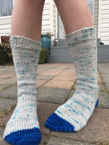 Knit Fast, Heel Later Sock Pattern