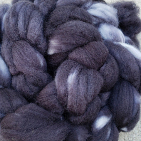 Black Superwash Merino Spinning Fiber - 150g