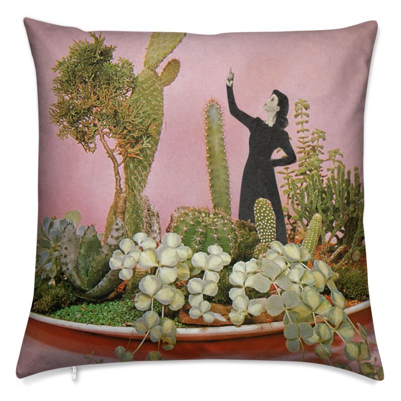 Velvet Cushion The Wonders of Cactus Island