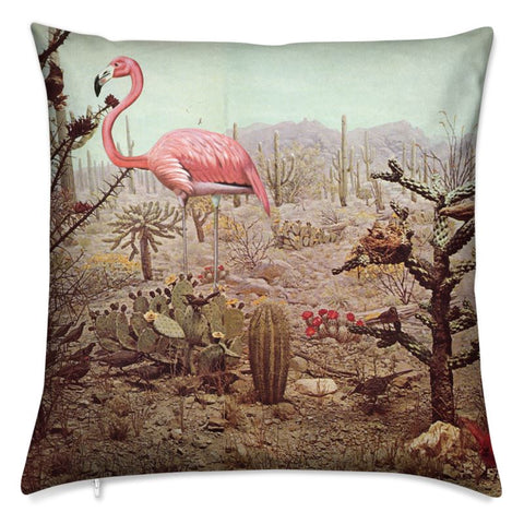 Velvet Cushion Wild Flamingo