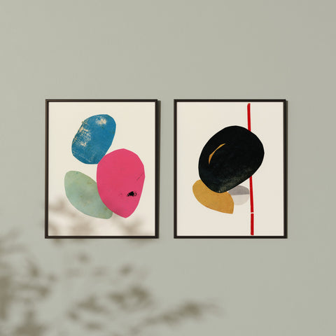 Abstract - Art Print Set on Rag Paper