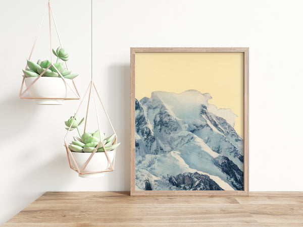 Winter Mountain Art Print - Avalanche