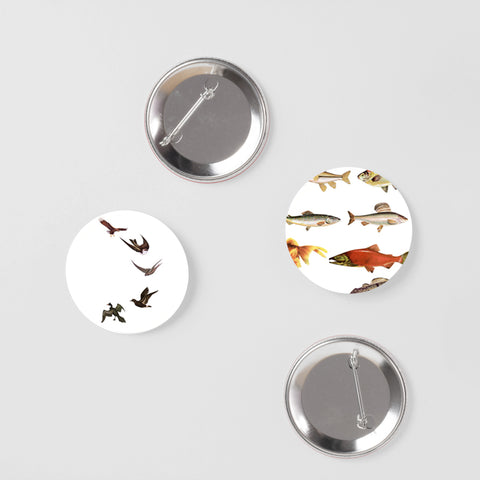 Wildlife Badge Set - Birds and Fish
