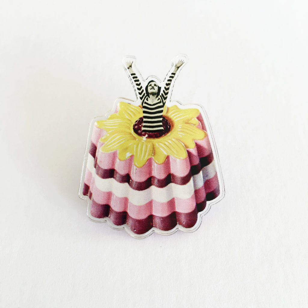 Acrylic Pin Badge - Blancmange Surprise